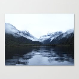 Boating in Taiparariki (Doubtful Sound) 2 Canvas Print