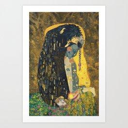 The Kiss -- Like Starlight Art Print