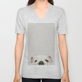 PUPPY FACE Unisex V-Neck