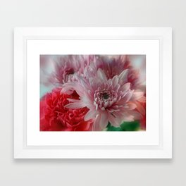 Carnation and Chrysanthemums  Framed Art Print