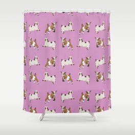 Baesic Prancing Goats Shower Curtain