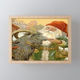 """The Sled Goat"" by Jenny Nystrom Framed Mini Art Print"