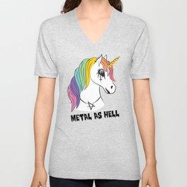 Metal Unicorn Unisex V-Neck