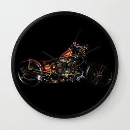 Knucklehead chopper on Black Wall Clock
