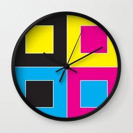 CYMK Wall Clock