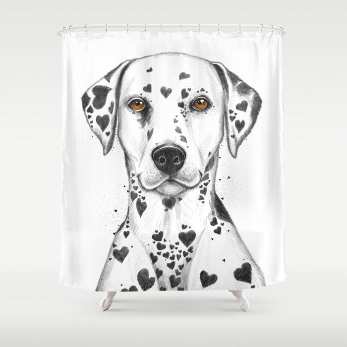 Dalmatian Shower Curtain By Nikitakorenkov