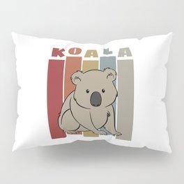 Cute Retro Koala Pillow Sham