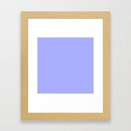 Pastel Periwinkle Blue Framed Art Print