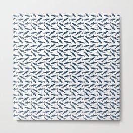 Whale Shark Pattern Metal Print