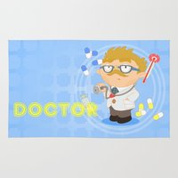 doctor Area & Throw Rugs featuring Doctor by Alapapaju