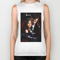 pretty little liars Biker Tanks featuring Pretty Little Liars by Erwan Khatib