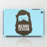 hair iPad Cases featuring Beard Season by Chase Kunz