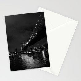 Manhattan Night Black & White Stationery Cards