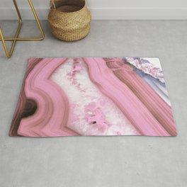 Glamorous Pink Agate Rug