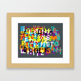 color coded confusion Framed Art Print