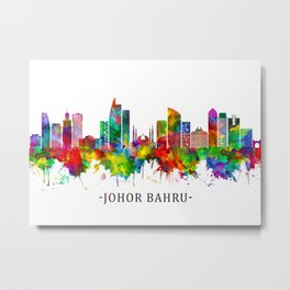 Johor Bahru Malaysia Skyline Metal Print