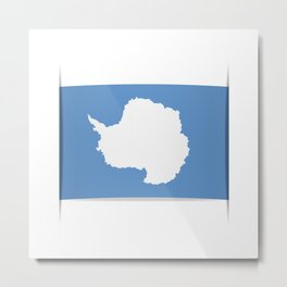 Flag of Antarctica. Vector illustration of a stylized flag. The slit in the paper with shadows. Metal Print