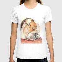 english bulldog T-shirts featuring English bulldog Alfie by Pendientera