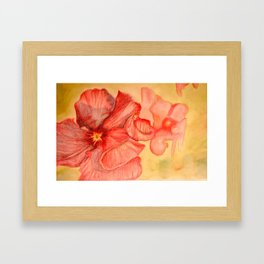 The flower Framed Art Print