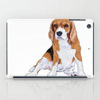 beagle iPad Cases featuring Beagle by hadkhanong