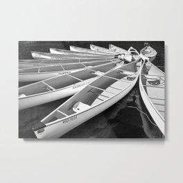 Tethered Canoes at Lost Lake in Whistler British Columbia Metal Print