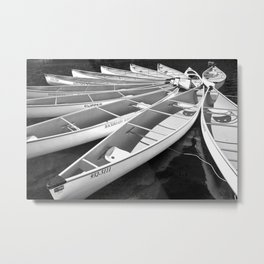 Tethered Canoes at Lost Lake in Whistler British Columbia Metal Print