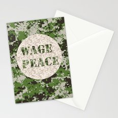 WAGE PEACE Stationery Cards