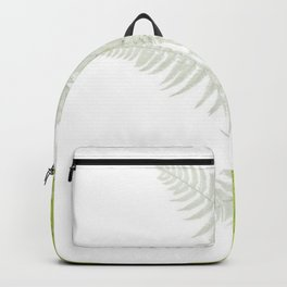 PALE GREEN & GREY ABSTRACT WOODLAND FERNS ART Backpack
