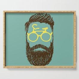 Hipster Biker Serving Tray