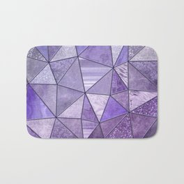 Purple Lilac Glamour Shiny Shimmering Patchwork Bath Mat
