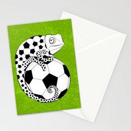 Soccer Chameleon Stationery Cards