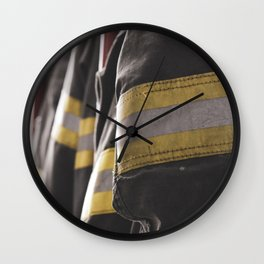Firefighter Jackets Wall Clock