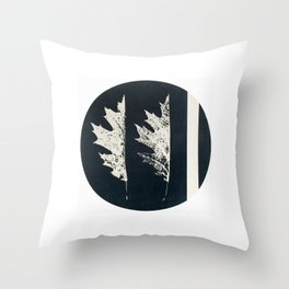 HERBARIUM. FORGOTTEN LEAVES. #9 Throw Pillow