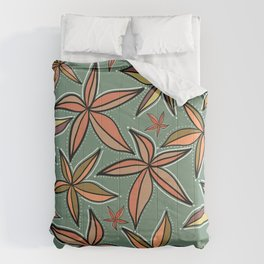 Aqua Retro Starfish Comforters