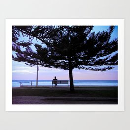 Staring into the sea Art Print