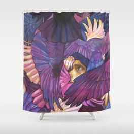 A Murder of Ravens Shower Curtain
