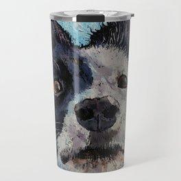 Border Collie Portrait Travel Mug