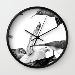 A Volery of Birds Wall Clock