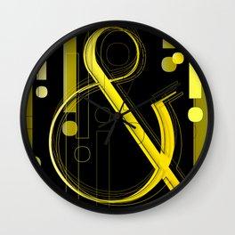AmpersandWich           ----      Typography Wall Clock