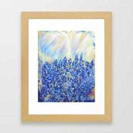 Lavender after the rain, flowers Framed Art Print