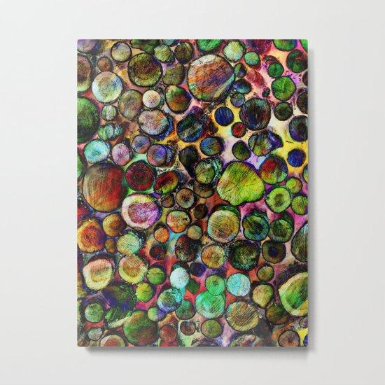 Colored Wood Pile 2 Metal Print