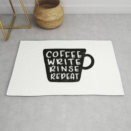 Coffee Write Rinse Repeat Rug