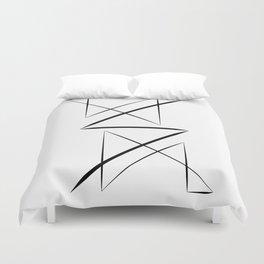 Black & White Minimal Design Nr. 3 Duvet Cover