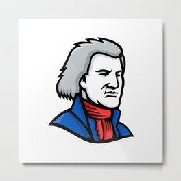 Thomas Jefferson Mascot Metal Print