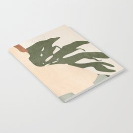 Holding the Monstera Leaf Notebook