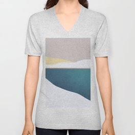 Abstract 32 Unisex V-Neck