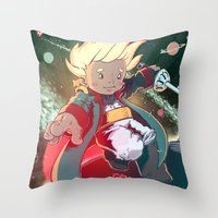 le petit prince Throw Pillows featuring Le Petit Prince by Jordan Lewerissa