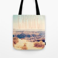 explore Tote Bags featuring Explore by Bunhugger Design