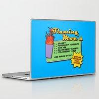 simpsons Laptop & iPad Skins featuring The Simpsons: Flaming Moe by dutyfreak