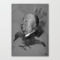 hitchcock Canvas Prints featuring Hitchcock by Arnaud Gomet